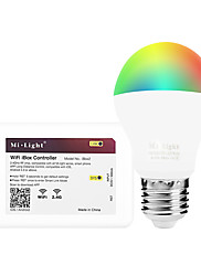 6W Smart LED-lampe A60(A19) 14 SMD 5050 600 lm RGB + Varm Infrarød sensor Dæmpbar Fjernstyret WIFI APP kontrol LysstyringVekselstrøm