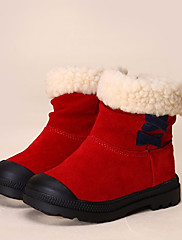 女の子 靴 レザー 冬 コンフォートシューズ ブーツ ブーティー/アンクルブーツ 用途 カジュアル ブラック イエロー レッド