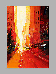 Pintados à mão Abstrato Vertical,Modern 1 Pça. Tela Pintura a Óleo For Decoração para casa