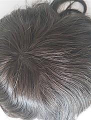 天然ヘアライン交換システムフルスイスレースナチュラルカラーヘアトゥーピースメンズヘアピースストック130%密度