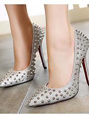 Feminino Sapatos Couro Ecológico Primavera Outono Plataforma Básica Saltos Salto Agulha Para Casual Dourado Prata