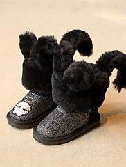 Para Meninas sapatos Courino Inverno Conforto Mocassins e Slip-Ons Para Casual Dourado Preto Azul Escuro