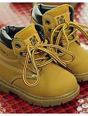 男の子 靴 レザーレット 秋 冬 コンバットブーツ ブーツ 用途 カジュアル ブラック イエロー Brown