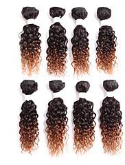 Menneskehår Brasiliansk hår Nuance Krøllet Hår Ekstensions 1 Sort Sort / Jordbær Blond Sort / Medium Kastanjerød Sort / Bourgogne