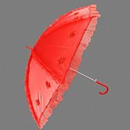 "Wedding Lace Umbrella Hook Handle 29.5""(Approx.75cm) Plastic 38.6""(Approx.98cm)"