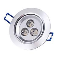 baratos Luzes LED de Encaixe-3000lm Lâmpada de Teto Lâmpada de Embutir Encaixe Embutido 3 Contas LED LED de Alta Potência Branco Quente 85-265V