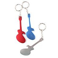 gitar şekilli şişe açacağı anahtarlık (rasgele renk) barware dekorasyon