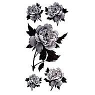 Tatouages Autocollants Séries de fleur Motif Imperméable Homme Femelle Adolescent Tatouage Temporaire Tatouages temporaires