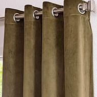 billige Mørkleggingsgardiner-twopages® bomull / rayon uformelle solide vinduet gardiner drapestwo paneler
