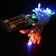 3メートルのマルチカラーは、文字列クリスマスの妖精光2モード(常時点灯、点滅)LED