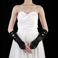 saténové koleno délka rukavice party / večerní rukavice s beading elegantní styl