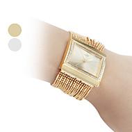 billige Quartz-Dame Kjoleur Armbåndsur Japansk Quartz Imiteret Diamant Kobber Bånd Analog Glitrende Mode Elegant Guld - Guld Sølv