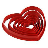 tort fondant decorare roșu diy în formă de inimă cookie-cutter-fursecuri mucegai (6-pack) jg0053