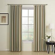 お買い得  窓用カーテン-地中海二つのパネルストライプマルチカラー寝室レーヨンパネルカーテンドレープ