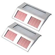 billige Utendørs Lampeskjermer-2pcs Wall Light / Hage Lamper LED perler Høyeffekts-LED Oppladbar / Lett installasjon / Dekorativ Naturlig hvit