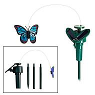 庭の植物のための太陽動力を与えられたフライングはためくモナーク蝶