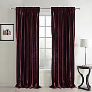 To paneler Window Treatment Neoklassisk , Solid Soverom Polyester Materiale gardiner gardiner Hjem Dekor For Vindu