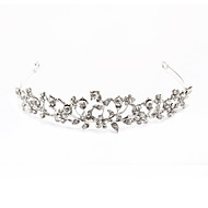 cheap Tiaras-Crystal Fabric Alloy Tiaras 1 Wedding Special Occasion Party / Evening Headpiece