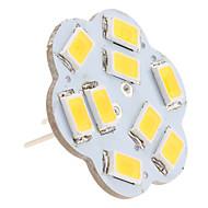 baratos Luzes LED de Dois Pinos-2.5 W 3000 lm G4 Luminárias de LED  Duplo-Pin 9 Contas LED SMD 5630 Branco Quente 12 V
