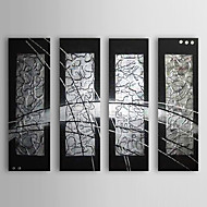 Hand-Painted Abstract Horizontal,Classic Traditional Four Panels Oil Painting For Home Decoration