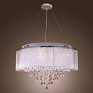Pendant Light ,  Modern/Contemporary Drum Electroplated Feature for Crystal Metal Living Room Bedroom Dining Room