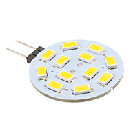 2w g4 led bi-pin lights 12 smd 5630 240lm branco quente 2700k dc 12v