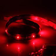お買い得  LEDストリップライト-0.6m フレキシブルLEDライトストリップ 24 LED レッド 防水 12 V / # / IP65