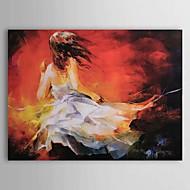 billiga Människomålningar-Hang målad oljemålning HANDMÅLAD - Människor Klassisk Duk