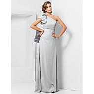 Plášť / sloupek jedno rameno podlaha délka šifón večerní šaty s květinou ts couture®