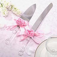 Inox Ensemble de service Thème floral Ruban Boîtier à cadeau