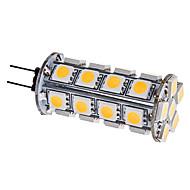 g4 led corn lights 30 smd 5050 310lm varm hvit 3000k dc 12v