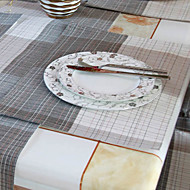 Set of 4 Country Style Tarkista Pattern Poly / Cotton Placemats