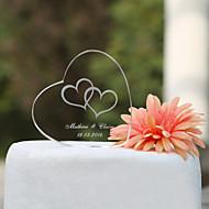 Kagedekorationer Have Tema Klassisk Tema Hjerter Klassisk Par Krystal Bryllup Jubilæum Polterabend med Gaveæske