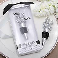 """""""Mr. & Mrs."""" Chrome Ampersand tappo della bottiglia"""