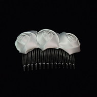 Χαμηλού Κόστους Αξεσουάρ για πάρτι-γυναικεία σατέν headpiece-ειδική περίσταση μαλλιά χτένισμα κομψό στυλ