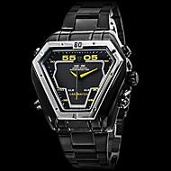 WEIDE Homens Relógio Militar Relógio de Pulso Quartzo Quartzo Japonês LED Calendário Cronógrafo Impermeável Dois Fusos Horários alarme