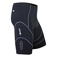 SANTIC Férfi Kerékpáros bélelt nadrág - Fekete Tömör szín Kerékpár Rövidnadrágok Nadrágok Alsók Légáteresztő 3D-s párna Gyors szárítás Sport Nejlon Spandex Coolmax® Hegyi biciklizés Országúti