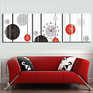 Modern Style Geometry Wall Clock in Canvas 3pcs Wall Clocks Decoration