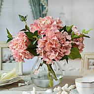 Χαμηλού Κόστους Ψεύτικα Λουλούδια-Ψεύτικα λουλούδια 4.0 Κλαδί Ευρωπαϊκό Στυλ Ορτανσίες Λουλούδι για Τραπέζι