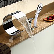 billige Sprinkle®-kraner-Lightinthrbox Sprinkle® Badekarskraner - Moderne Krom Foss Utbredt Tre Huller