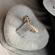 Dame Båndringe Kærlighed kostume smykker luksus smykker Krystal Simuleret diamant Legering Hjerteformet Smykker Til Daglig