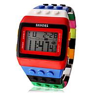 Női hölgyek digitális karóra Square Watch Digitális Riasztás - Ébresztős Naptár Kronográf Digitális Édesség Divat Fa - Sárga Piros Két év Akkumulátor élettartama / LCD / Desay CR2025