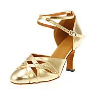 billige Moderne sko-Dame Moderne sko Kunstlær Høye hæler Kustomisert hæl Kan spesialtilpasses Dansesko Gull