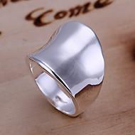 Feminino Anéis Grossos bijuterias Prata Chapeada Liga Jóias Para Diário