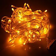 100-led 10m yılbaşı tatil dekorasyon sarı ışık led dize ışık