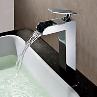 cheap Sprinkle® Faucets-Countertop  with  Chrome Single Handle One Hole  for Waterfall Centerset
