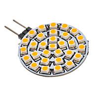G4 GU4(MR11) Lâmpadas de Foco de LED 30 leds SMD 3528 Branco Quente 90-110lm 3000K AC 12V