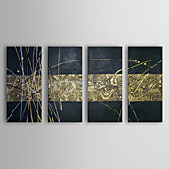 Hand-Painted Abstract Horizontal,Realism Four Panels Canvas Oil Painting For Home Decoration