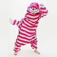 Voksne Kigurumi-pyjamas Chesire Cat Dyremønster Onesie-pyjamas Koralfleece Rød Cosplay Til Damer og Herrer Nattøj Med Dyr Tegneserie Festival / Højtider Kostumer