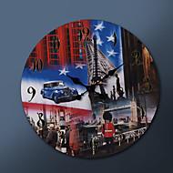 """23 """"H EUA eo britânico Pintura metal relógio de parede"""